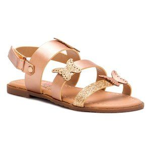 Olivia Miller Girl Rose Gold Sandal Toddler 5